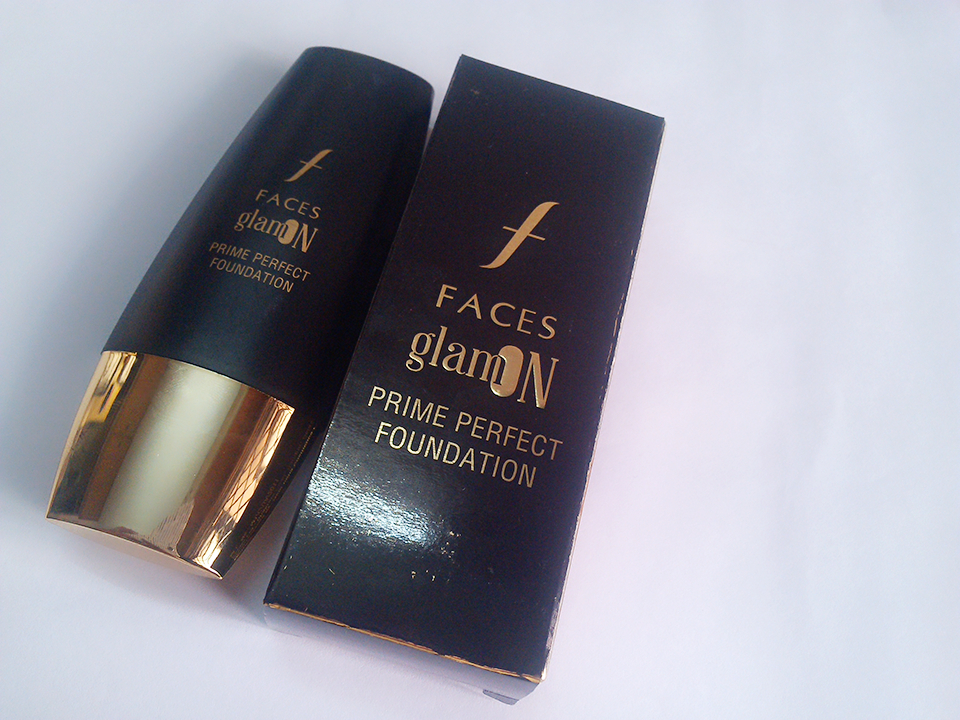 FACES GLAM ON PRIME PERFECT FOUNDATION- 04 SAND | REVIEW AND SWATCH (2/6)