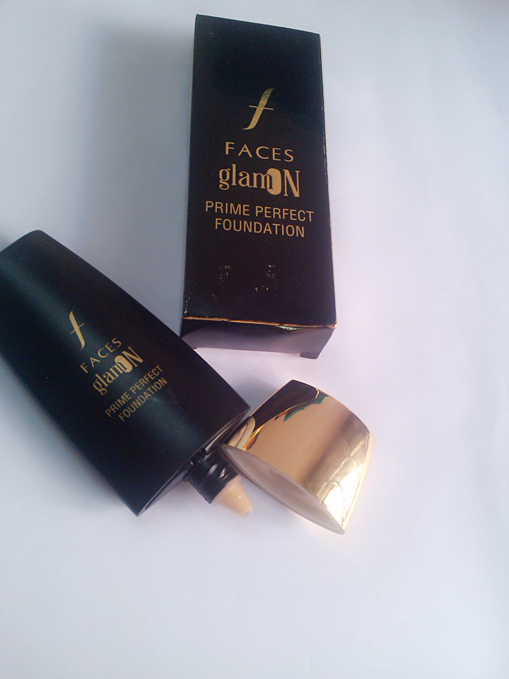FACES GLAM ON PRIME PERFECT FOUNDATION- 04 SAND | REVIEW AND SWATCH (3/6)