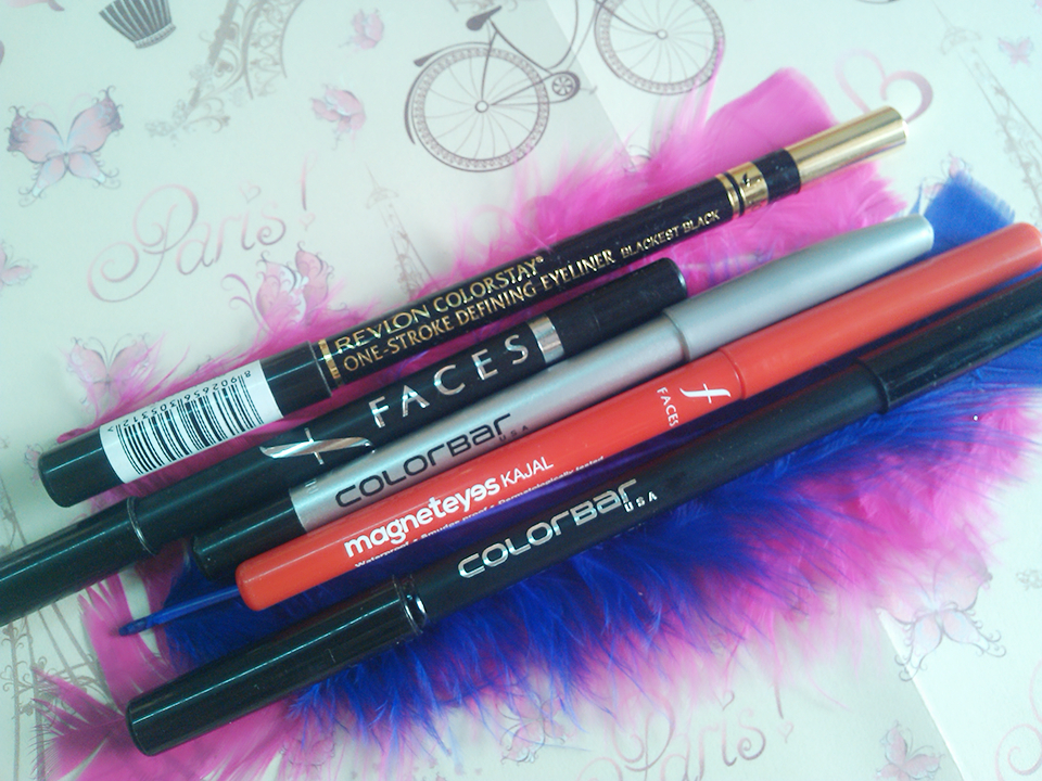TOP 5 MUST-HAVE INDIAN DRUGSTORE EYELINERS | Swatch tests & Comparison (3/6)