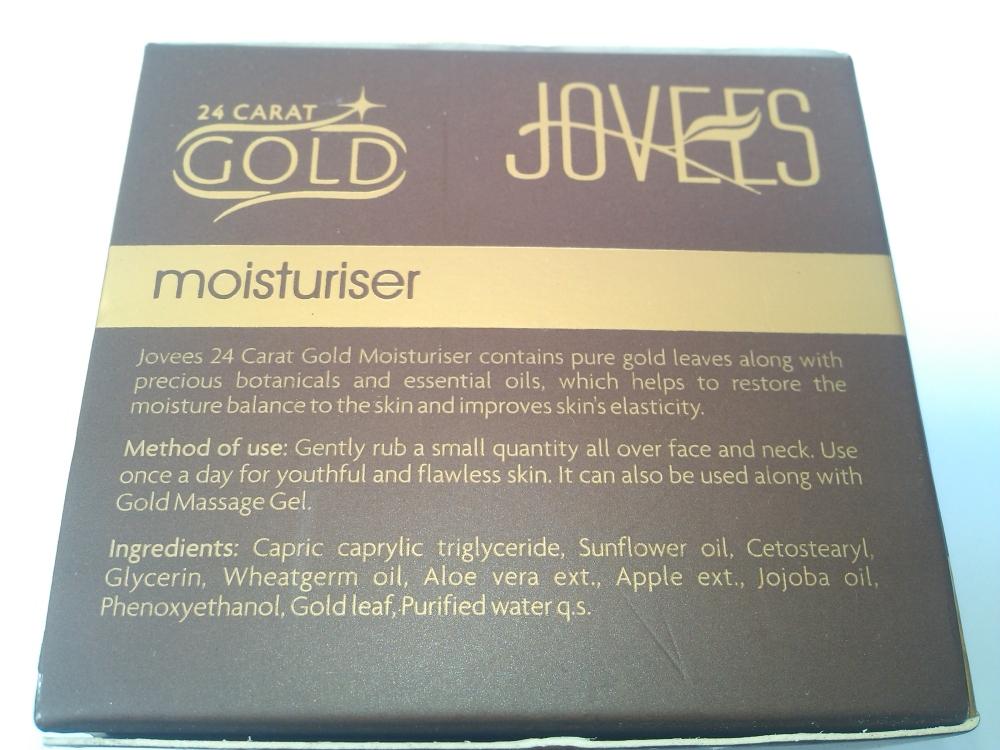 JOVEES 24 CARAT GOLD MOISTURIZER |REVIEW (3/6)