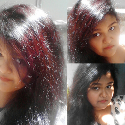loreal black cherry dark brown hairs