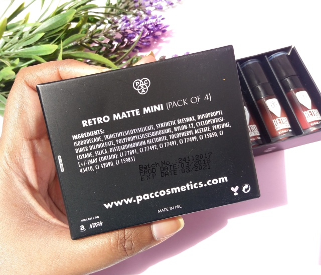 Pac Retro Matte Mini Lip Set 4