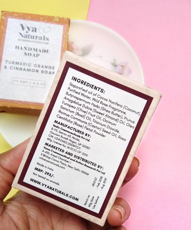 Vya Naturals Handmade Soaps Review 1