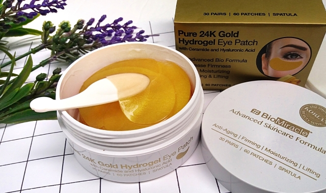 BioMiracle Pure 24K Gold Hydrogel eye patches 5