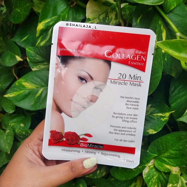 BioMiracle Collagen Essence Sheet Masks Review 1