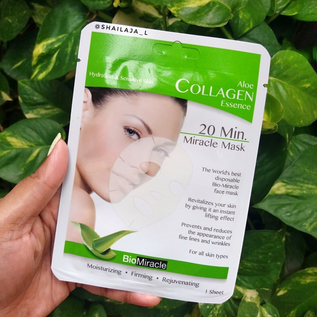 BioMiracle Collagen Essence Sheet Masks Review 3