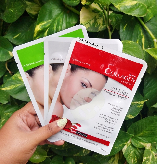 BioMiracle Collagen Essence Sheet Masks Review