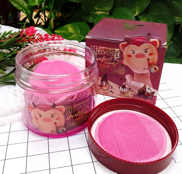 ELIZAVECCA HELL-PORE PERFECT WINE PEELING PADS 3