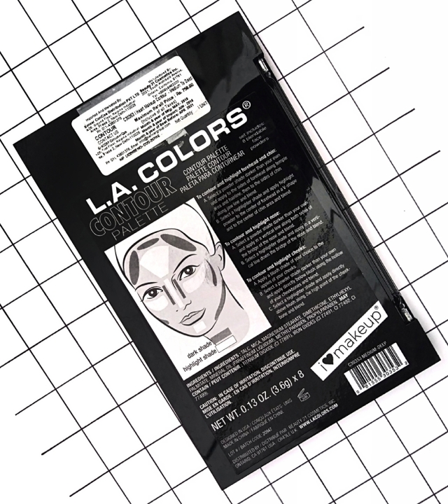 L.A.COLORS I HEART MAKEUP CONTOUR PALETTE 1
