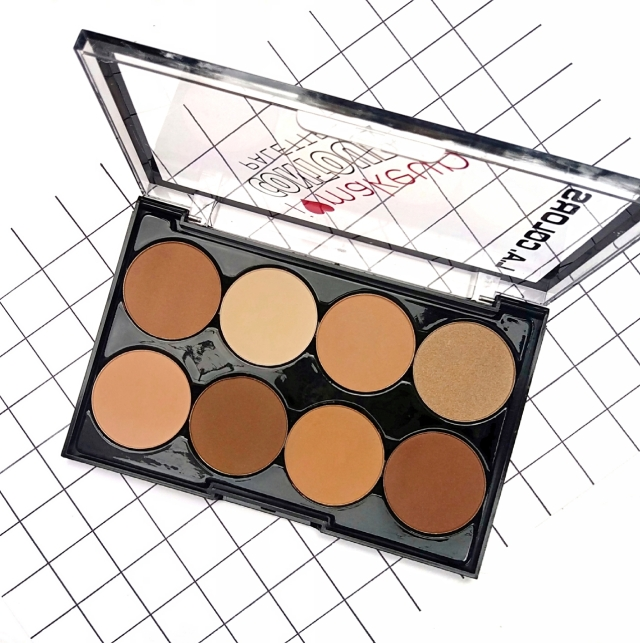 L.A.COLORS I HEART MAKEUP CONTOUR PALETTE 2