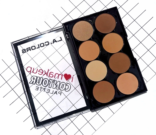 L.A.COLORS I HEART MAKEUP CONTOUR PALETTE 3