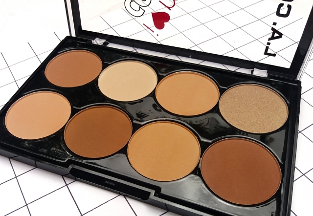 L.A.COLORS I HEART MAKEUP CONTOUR PALETTE 7