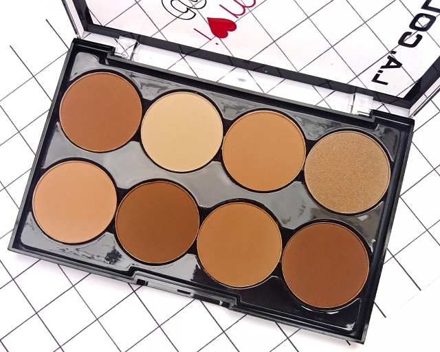 L.A.COLORS I HEART MAKEUP CONTOUR PALETTE 8