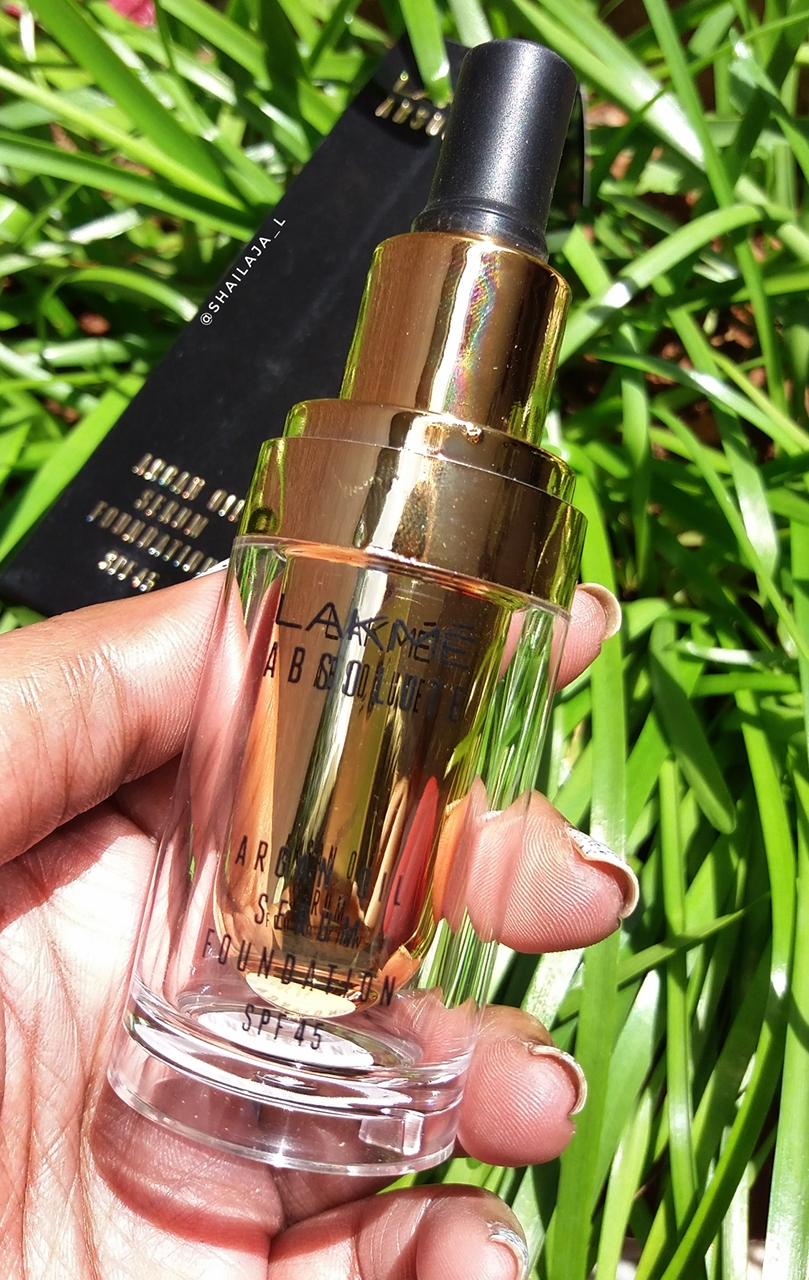 LAKME ABSOLUTE ARGAN OIL SERUM FOUNDATION REVIEW 2