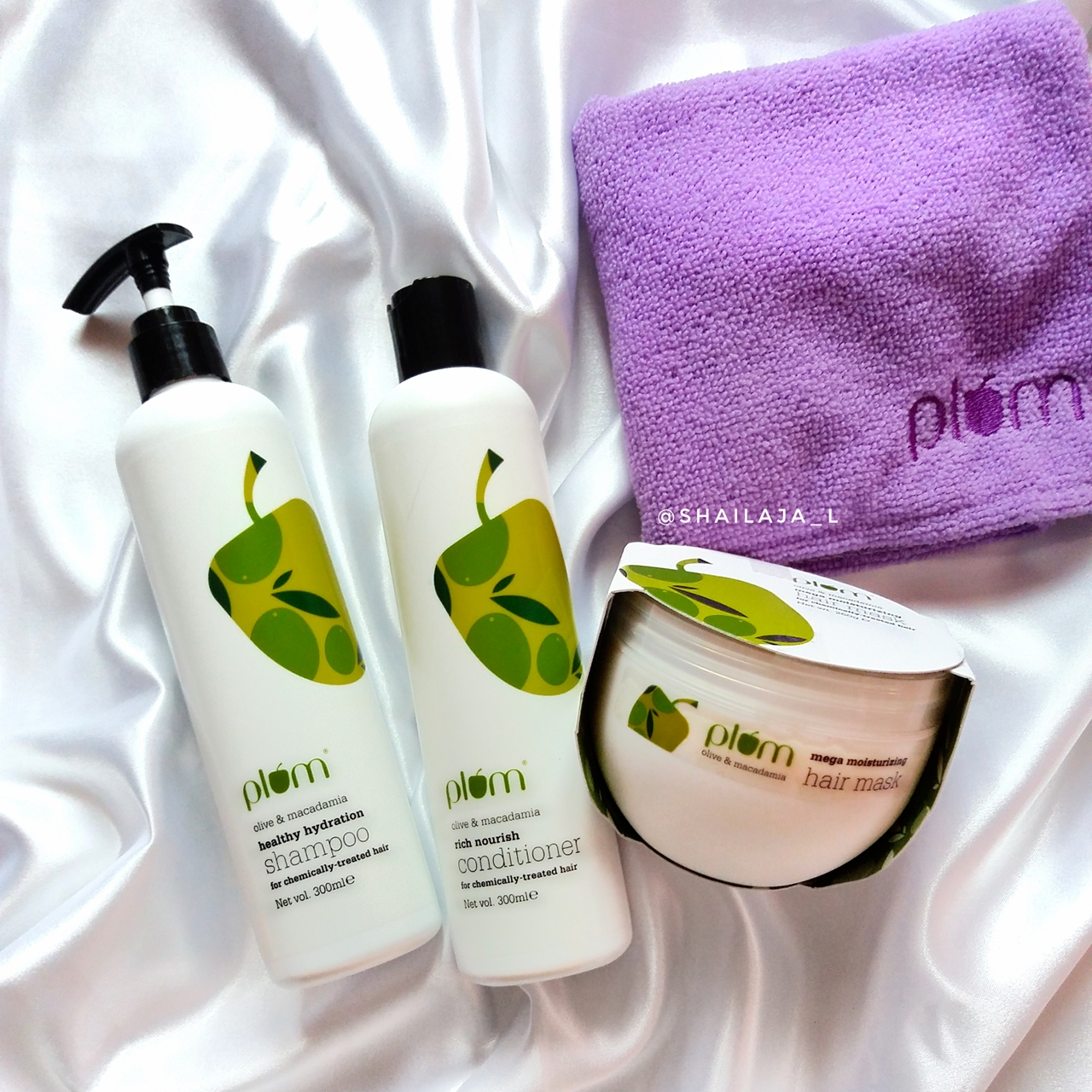 PLUM OLIVE OIL & MACADAMIA HAIRCARE